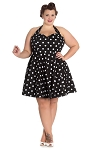 Hell Bunny Black Polka Dot Nicky Mini Dress